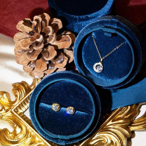 gift set Golden Moon Cubic Zirconia Necklace and Earrings Set Premium Golden Moon Gift Set Moi Accessories