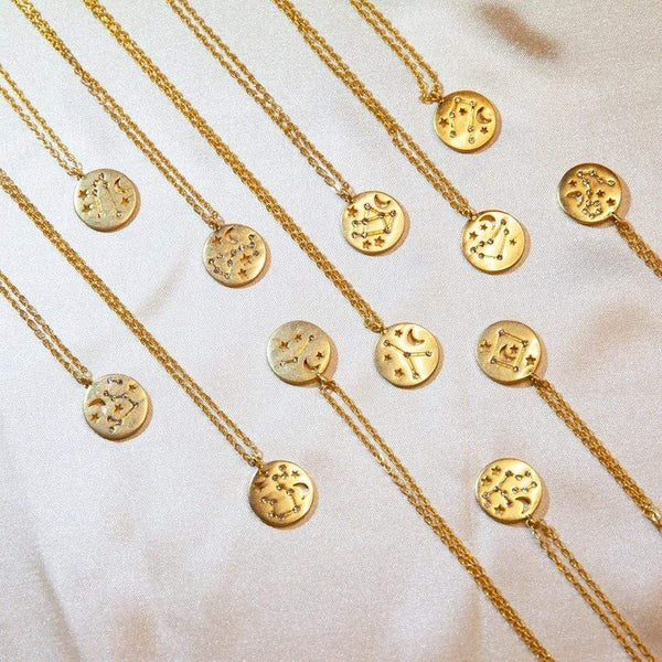 necklace Horoscope Gold Necklace - 14K Gold-Plated Moi Accessories