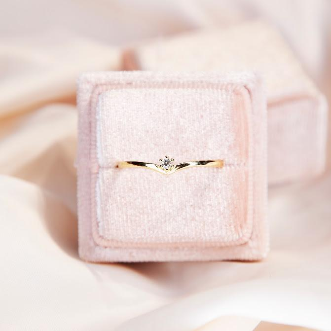 Rings Gold Vermeil Adjustable Faux Diamond Ring Alate Ring - Gold Vermeil Moi Accessories