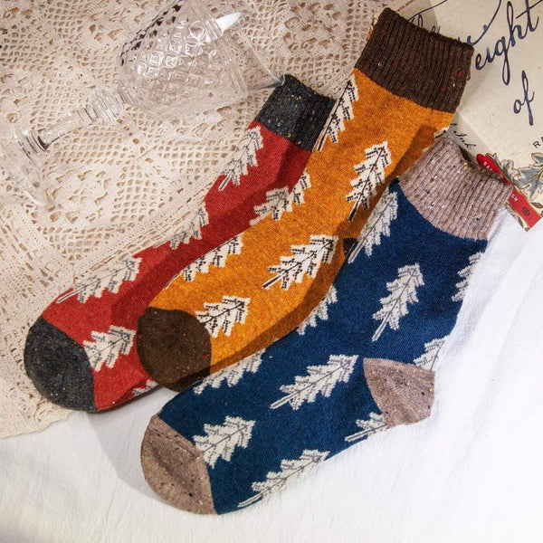 Socks Women's Pine Tree Wool Socks Gift Box Moi Accessories