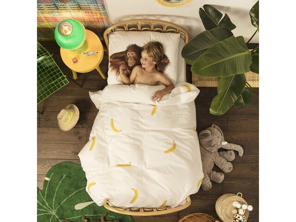Snurk Dekbed Banana Monkey Beddengoed 140 x 200