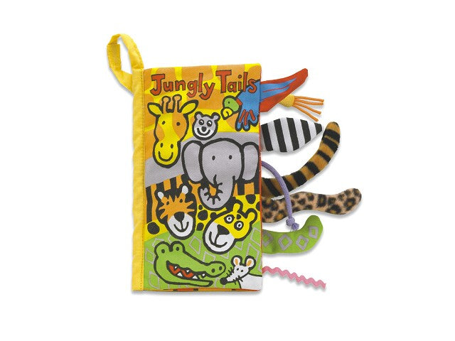 Jellycat Soft book jungly tails Speelgoed .