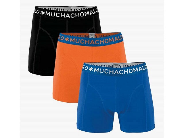 Muchachomalo Boxer 3-pack Solid 277 Ondergoed 134-140