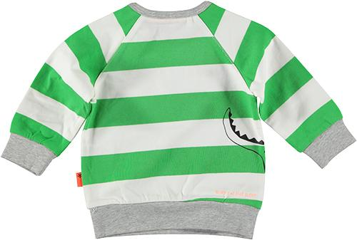 Baby Jongens Sweater Little Messmaker van B.E.S.S. in de kleur White in maat 68.