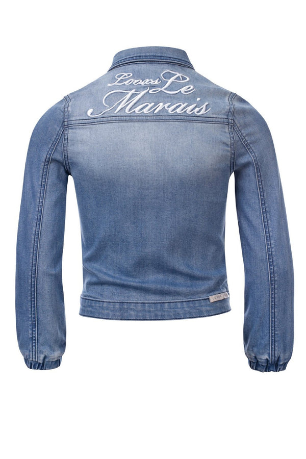 Meisjes Girls Denim Jacket van Looxs in de kleur Denim in maat 164.