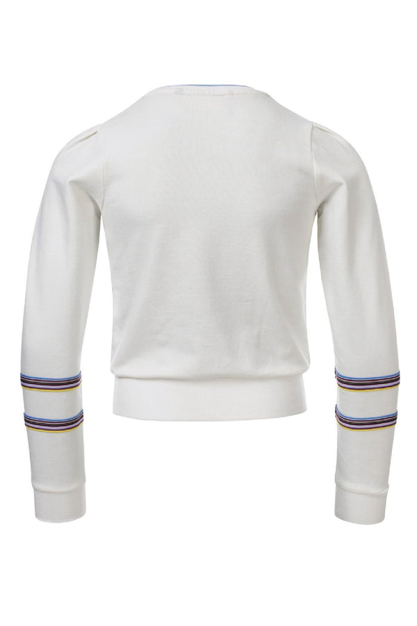 Meisjes Girls Sweater van Looxs in de kleur Off White in maat 164.