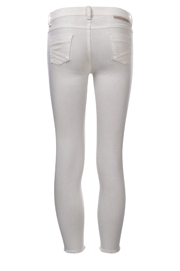 Meisjes Girls white denim skinny van Looxs in de kleur Off White in maat 164.