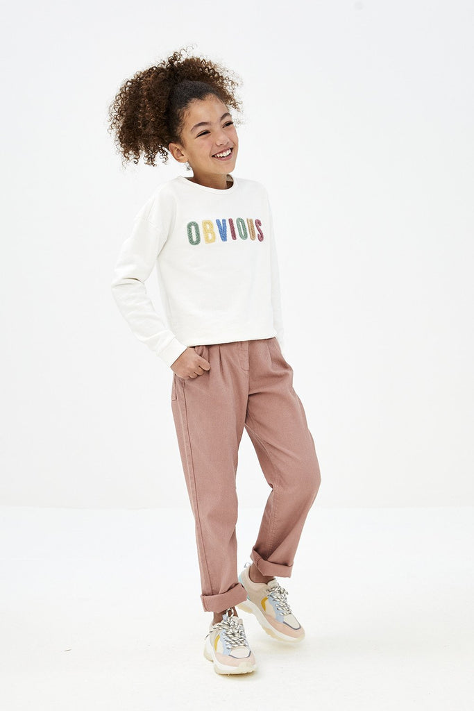 Meisjes Girls Becky Obvious Pullover van By-Bar in de kleur Off White in maat 128.