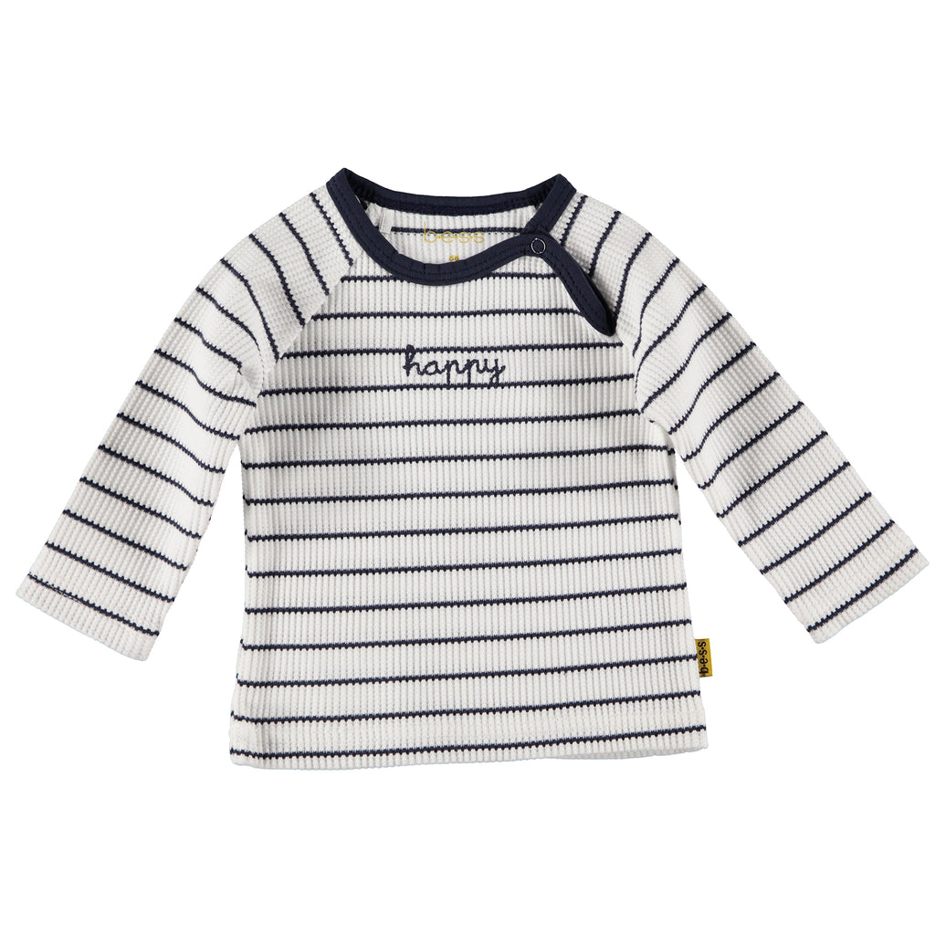B.E.S.S. Shirt l.sl. Striped Happy