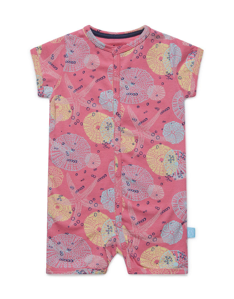 Charlie Choe Baby jumpsuit short sleeve pink