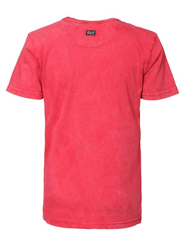 Jongens T-shirt classic products van Petrol Industries in de kleur Imperial Red in maat 176.