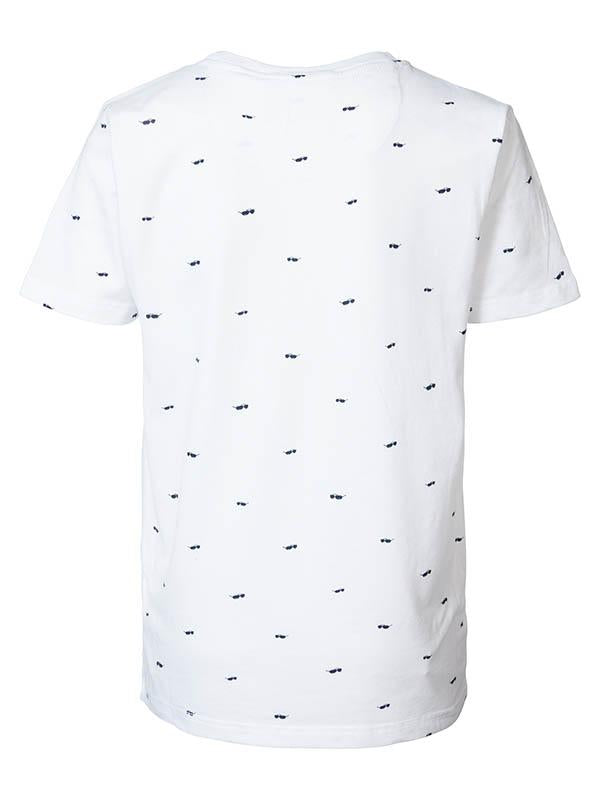 Jongens T-shirt AOP sunglasses van Petrol Industries in de kleur Bright White in maat 176.