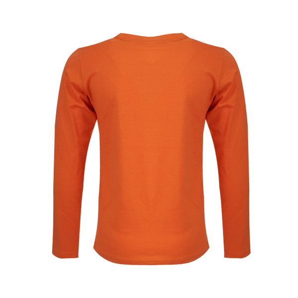 Someone T-Shirt Long Sleeves Someone Dark Orange
