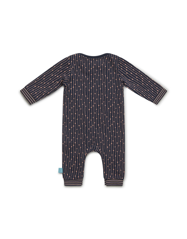 Charlie Choe Baby jumpsuit long sleeve stripe Happy