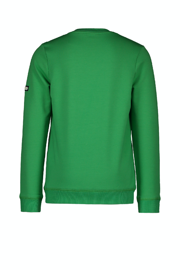 Jongens Flo boys sweater divers van Flo in de kleur Olive palm in maat 152.