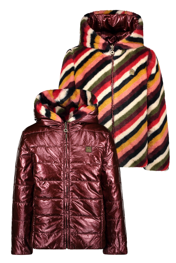 Flo Flo girls reversible hooded jacket