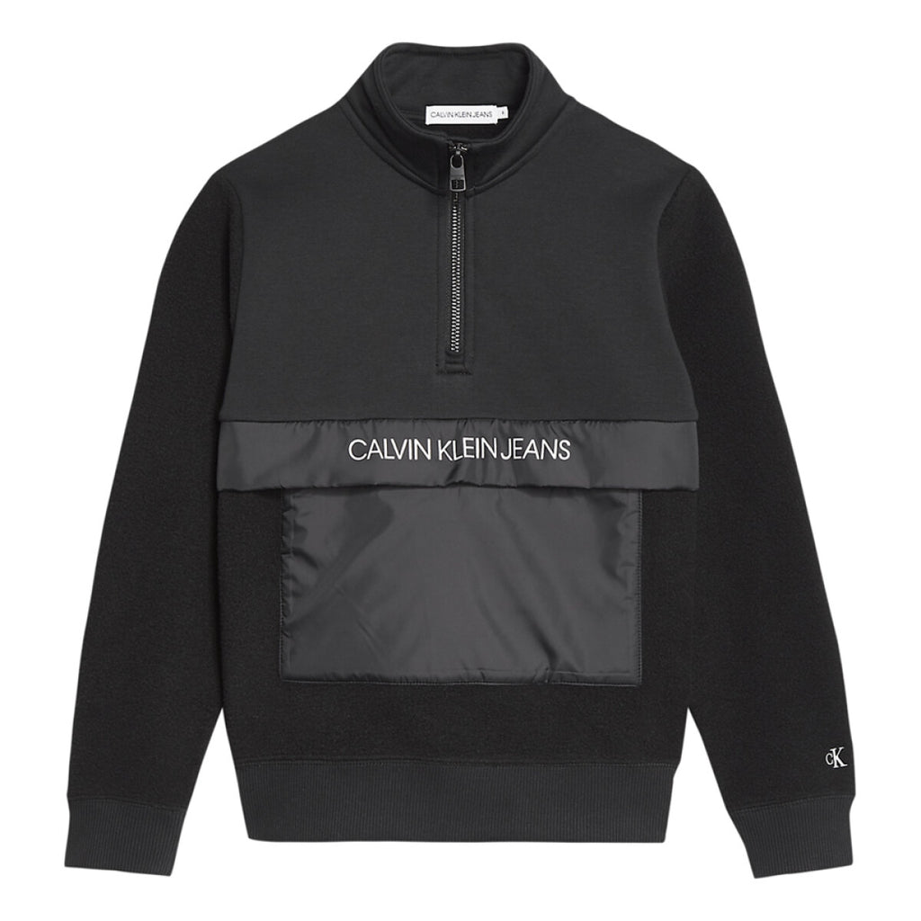Calvin Klein FLEECE ZIP MOCK SWEATER