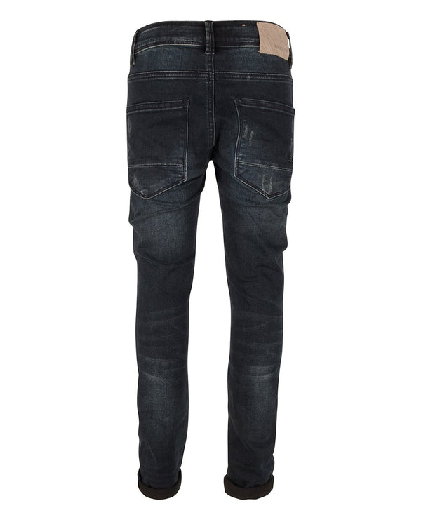 Jongens BLUE MAX SLIM FIT van Indian Blue Jeans in de kleur Dark Denim in maat 176.