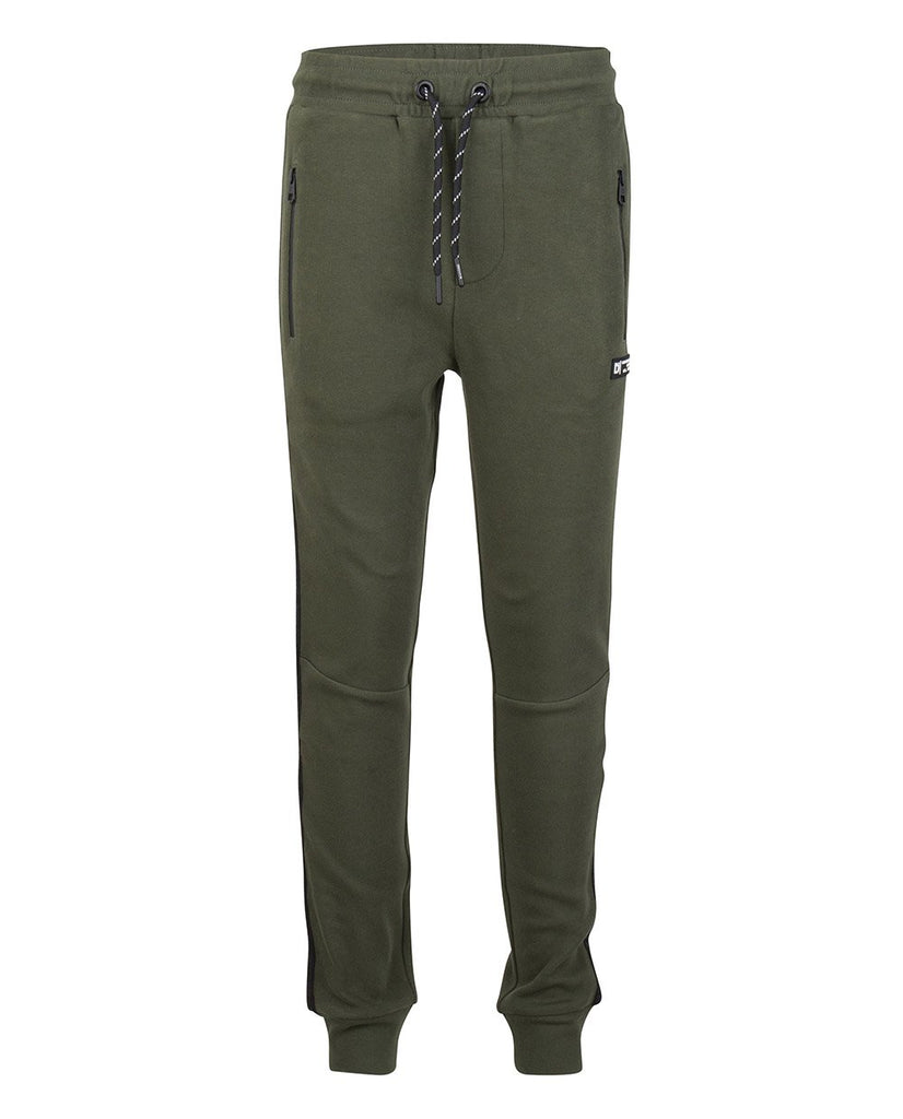 Jongens JOG PANT TAPE van Indian Blue Jeans in de kleur Dark army in maat 176.
