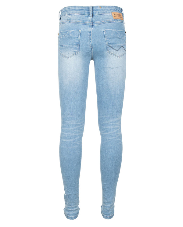 Meisjes Blue Jill Flex Skinny Fit van Indian Blue Jeans in de kleur Medium Denim in maat 176.