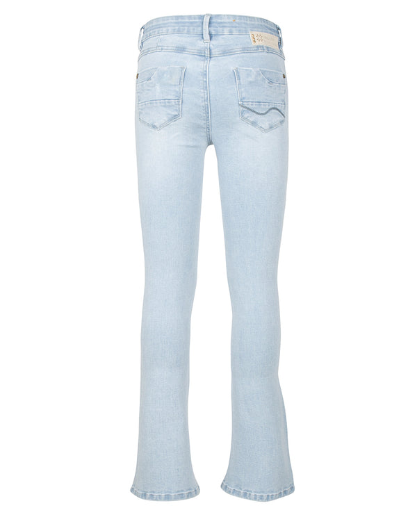 Meisjes Blue Lola Flare Fit van Indian Blue Jeans in de kleur Light Denim in maat 176.