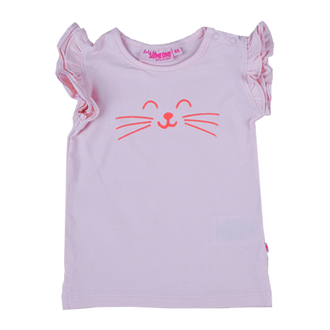 Baby Meisjes T-shirt Cat van Someone in de kleur SOFT PINK in maat 86.