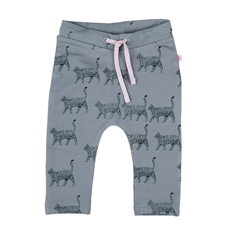 Baby Meisjes Sweatpants AOP Cats van Someone in de kleur LIGHT KHAKI in maat 86.