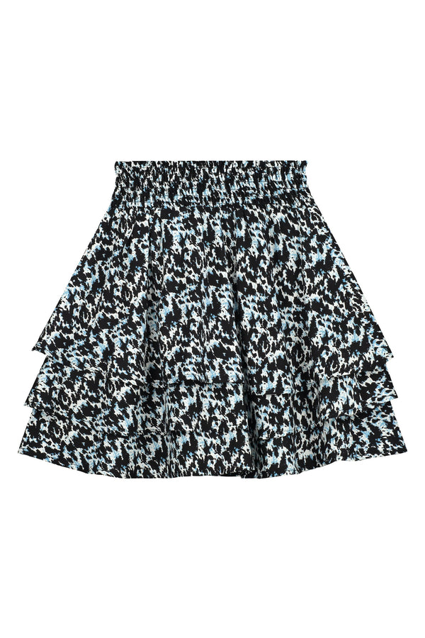 Meisjes Skirt van Levv in de kleur French Blue Abstract in maat 176.