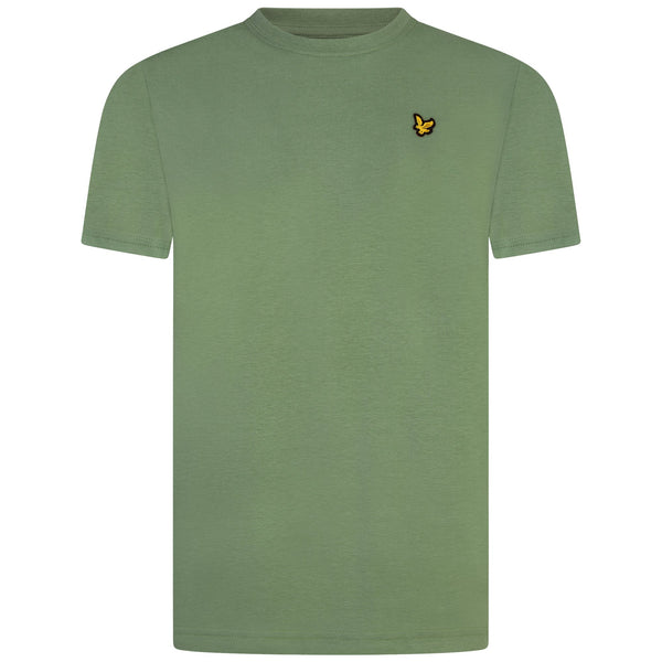 Jongens Classic T-Shirt Hedge Green van Lyle & Scott in de kleur Hedge Green in maat 170-176.