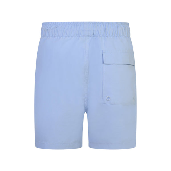 Jongens Classic Swim Shorts Chambray Blue van Lyle & Scott in de kleur Chambray Blue in maat 170-176.