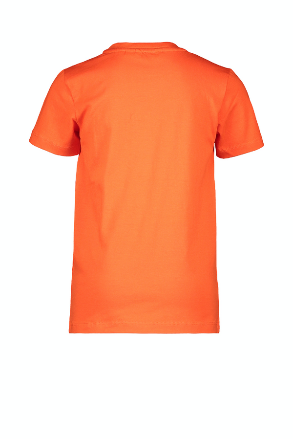 Jongens MT t-shirt chestprint van Moodstreet in de kleur Sporty Orange in maat 110, 116.