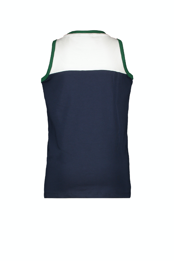 Jongens MT t-shirt sleeveless van Moodstreet in de kleur Navy in maat 98, 104.