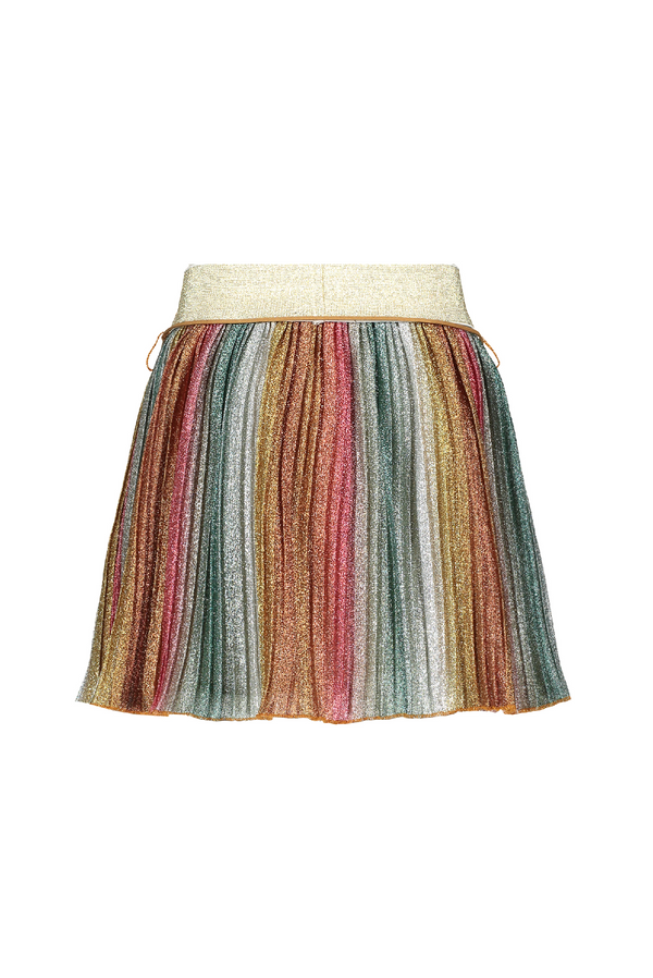 Meisjes NikkyB pleated glitter skirt  van NoNo in de kleur Soft Copper in maat 146, 152.
