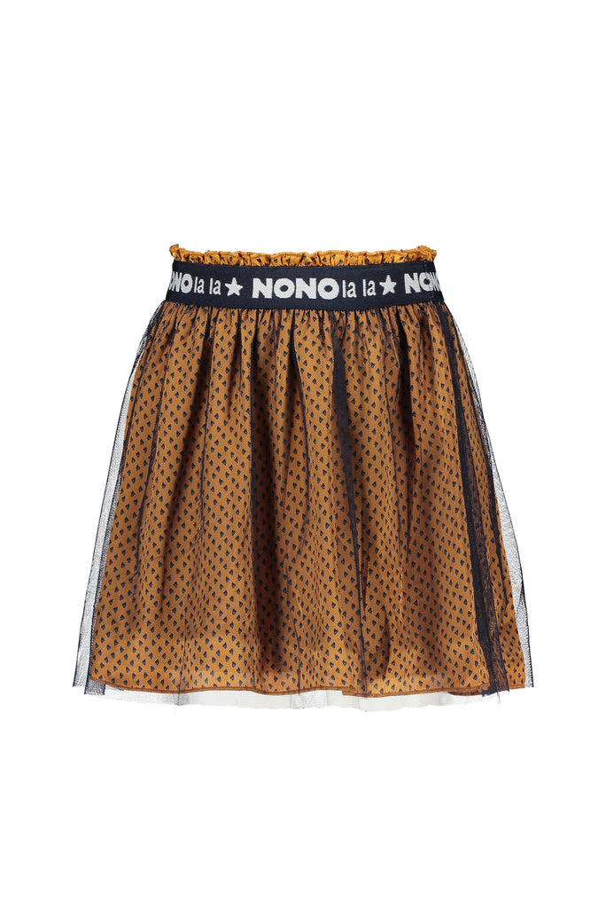 NoNo Nola short triangle aop skirt with mesh layer