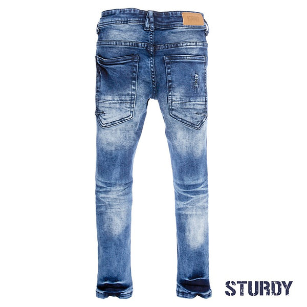 Sturdy Spijkerbroek destroyed denim power stretch