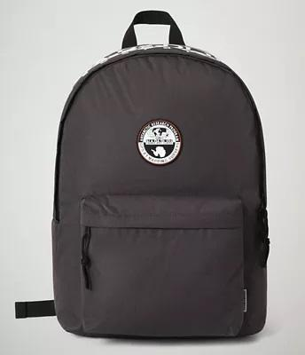 Unisexs BACKPACK HAPPY DAYPACK 2 DARK GREY SOLID van Napapijri in de kleur Grijs in maat Onesize.