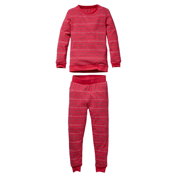 Quapi Pyjama Puck W200 AOP Hot Pink Text2
