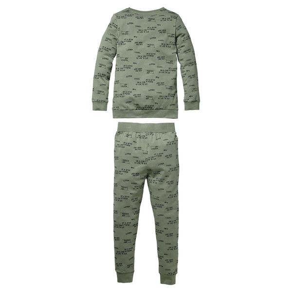 Quapi Pyjama Puck W200 AOP Green Text2