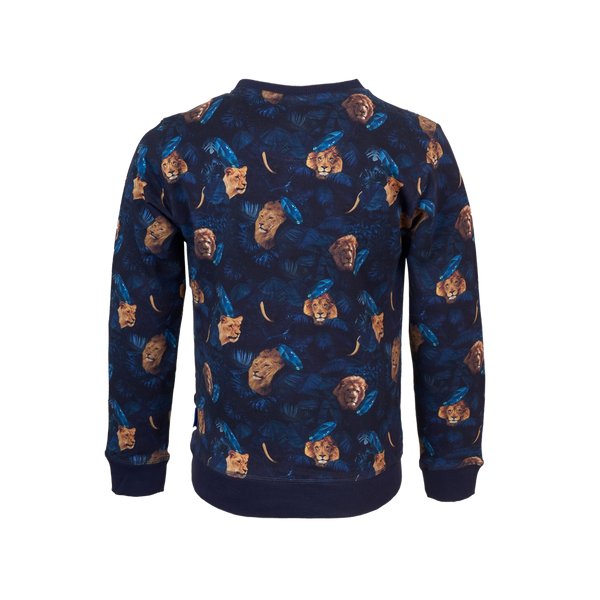 Someone Sweater Long Sleeves Someone Navy
