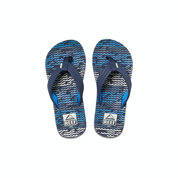 jongens KIDS AHI BLUE HORIZON WAVES van Reef in de kleur Blauw in maat 37, 38.