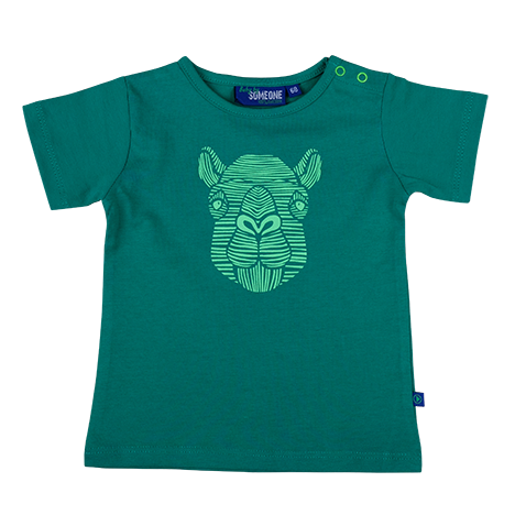 Baby Jongens T-shirt kameel van Someone in de kleur GREEN in maat 86.
