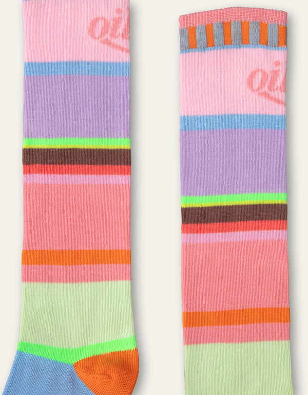 Oilily Manuela knee socks 62 multicolor stripe with OILILY