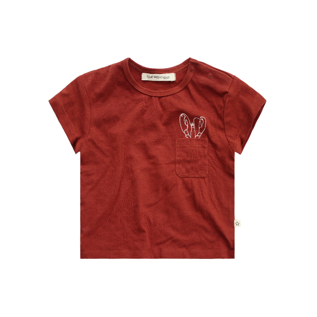 Your Wishes Burnt Sienna Slub - Pocket Tee