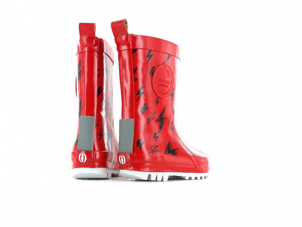 Shoesme Regenlaars Rood flash