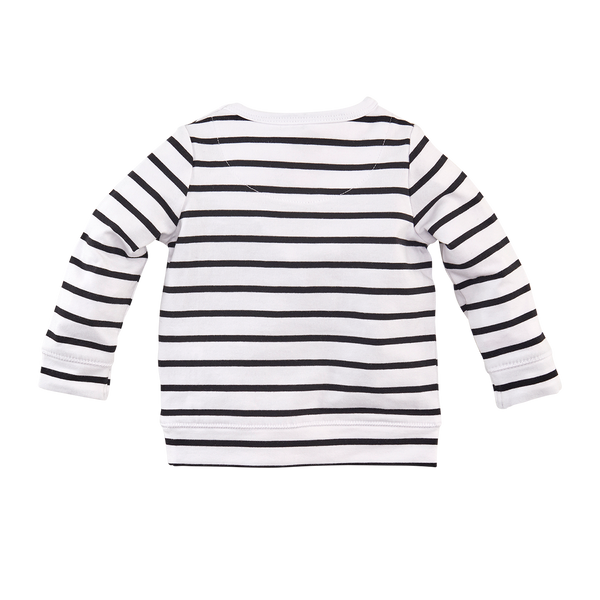 Jongen, Bright white/Black/Stripes, 74, Z8, €15-€20, Long sleeves, 20-zomer, 191219