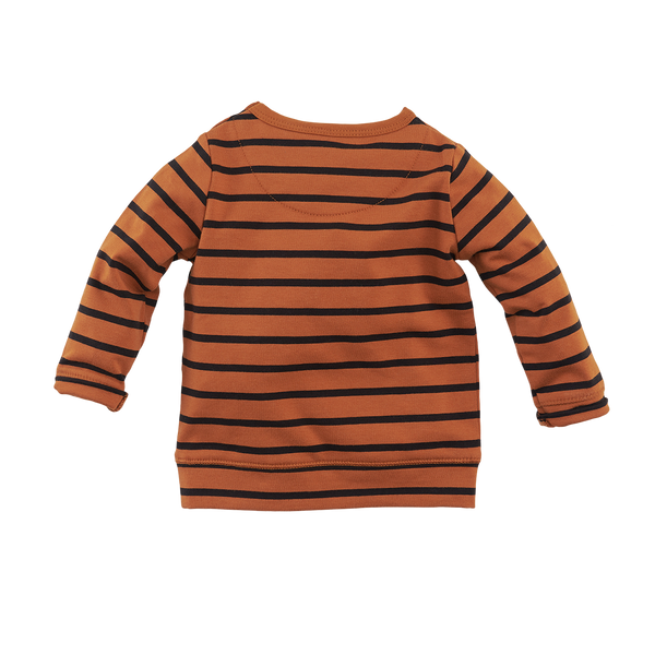 Jongen, Cognac/Black/Stripes, 74, Z8, €15-€20, Long sleeves, 20-zomer, 191219