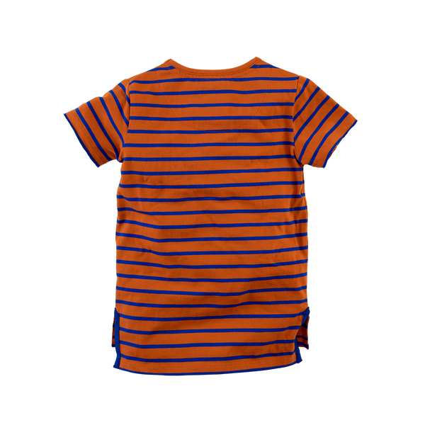 Jongens  van Z8 in de kleur Cognac/Brilliant blue/Stripes in maat 140, 146.