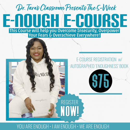 E-NOUGH E-COURSE REGISTRATION WITH AUTOGRAPHED 'ENOUGHNESS' BOOK