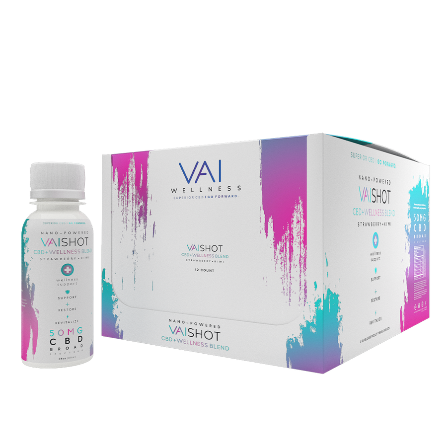 VAI Shot | 50mg CBD + Wellness Blend | 12-pack