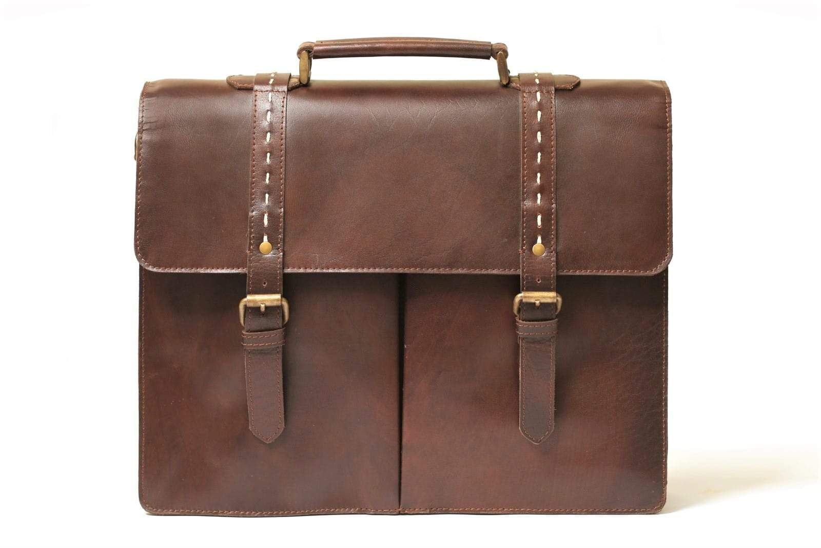 handmade leather briefcase bag for men
